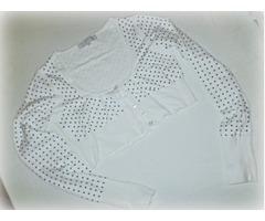 Bijeli bolero s tockicama (Bershka) s elastinom vel. S