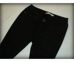SET Zara crne skinny traperice s elastinom vel.M+crni lak remen