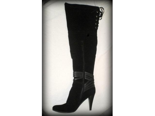 AKCIJA 135KN!Sexy visoke crne čizme iznad koljena
