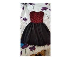 Svečana crno crvena haljina s čipkom NOVO!!!!