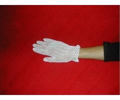 Bijele heklane rukavice