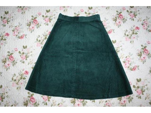Zelena samt suknja