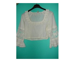 Vintage bijela bluza