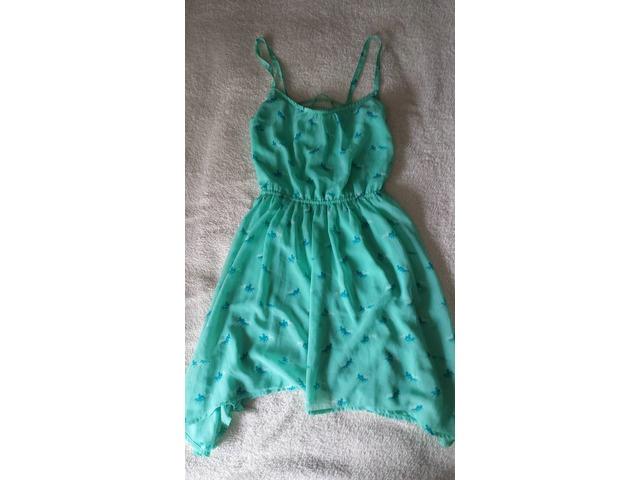 Bershka lepršava tirkizna haljina