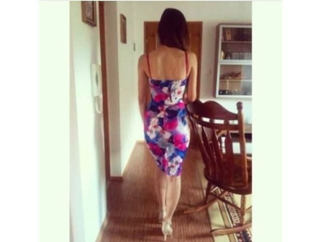 Cvjetna haljina uska
