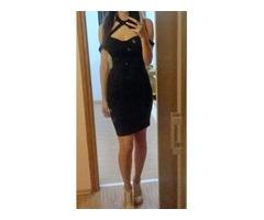 Novo!! Crna uska haljina s trakom oko vrata