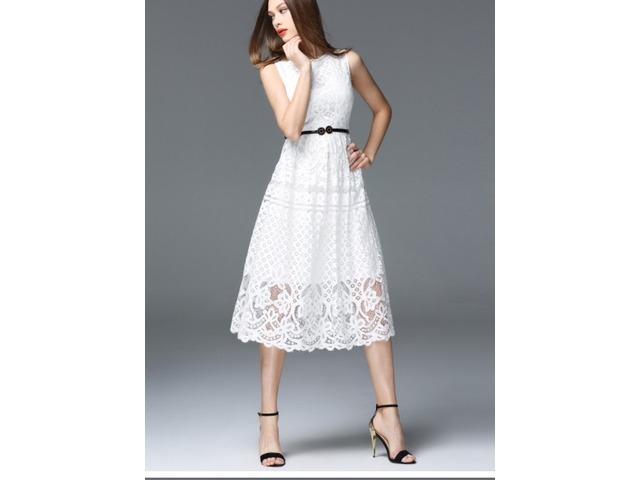 Nova bijela čipkasta haljina