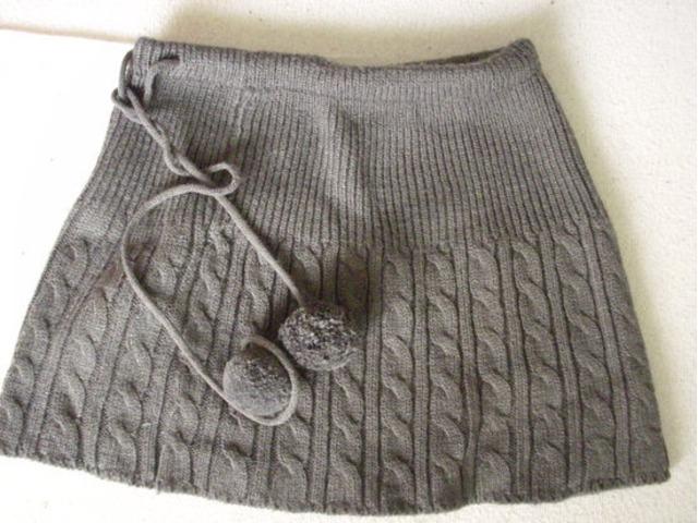Zimska NOVA siva suknja xs/s