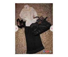 Lot -midi suknja i bluza na volančiće + poklon