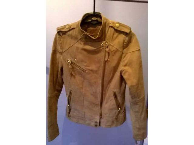 Mango kožna jakna XS