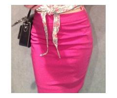 Ružičasta pencil suknja H&M