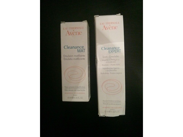 Avene Cleanance: 1. MAT matirajuća emulzija i 2. Expert emulzija