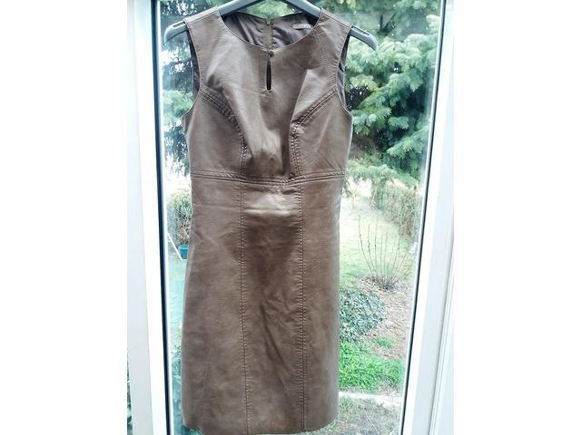 Kožna Orsay haljina