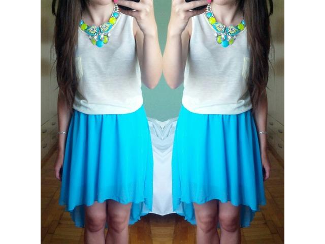 Asimetrična plava suknja